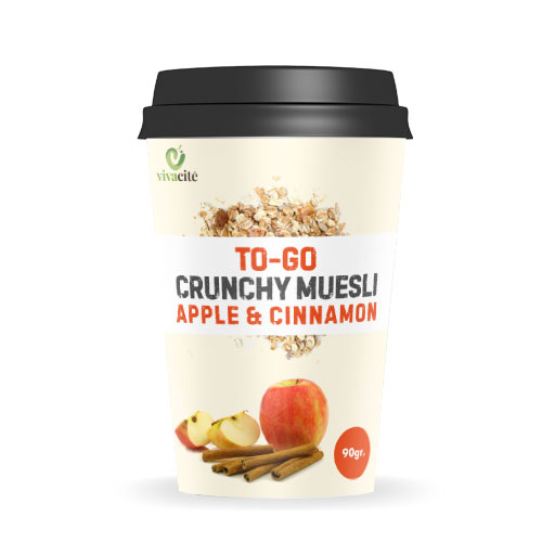 To-Go Crunchy Muesli with Apple and Cinnamon