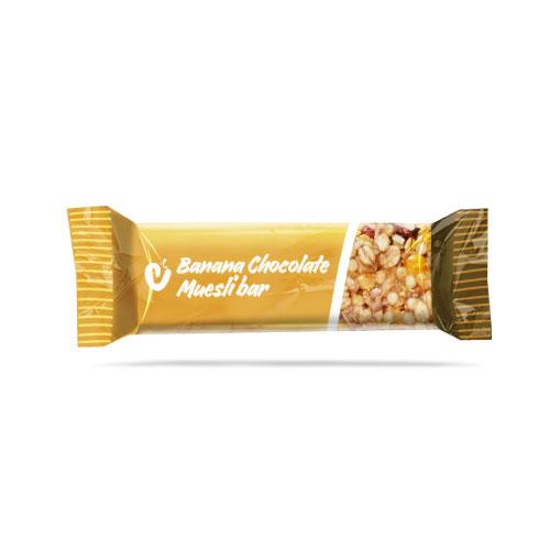 Banana Chocolate Muesli Bar