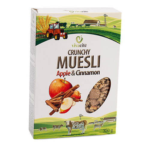Crunchy Muesli with Apple and Cinnamon 350g